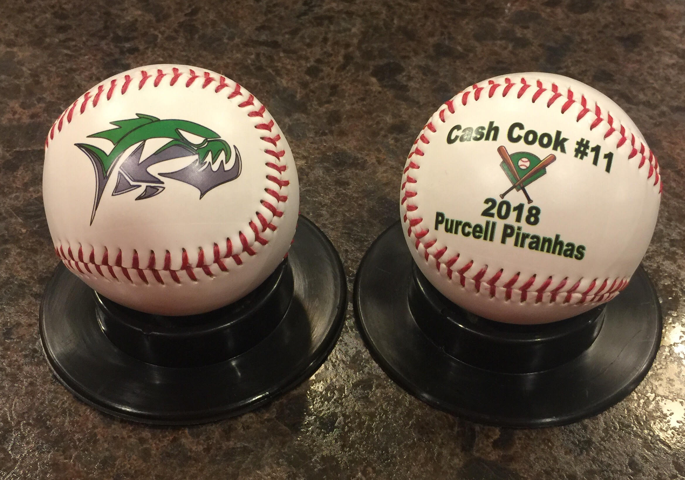 Customized Official Size Baseballs