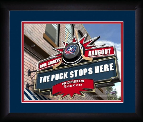 The Puck Stops Here Pub Sign