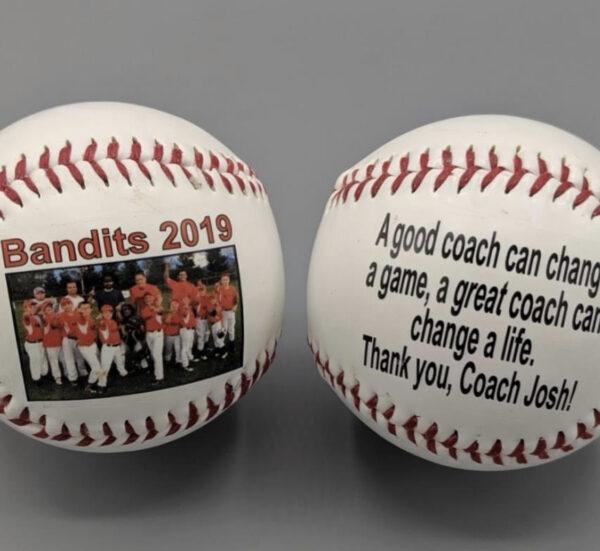 Double side print Baseballs